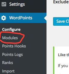 module admin menu link