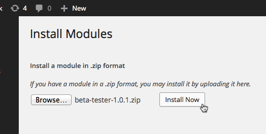 wordpoints-module-install