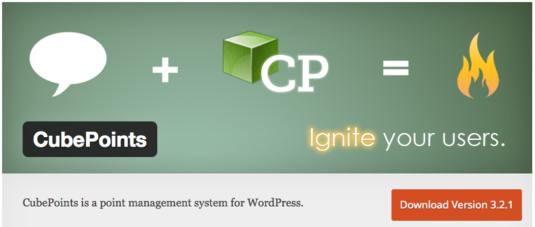 The banner image of the CubePoints plugin on WordPress.org.